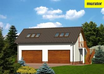 Bardzo dobry Projekty garaży z mieszkalnym poddaszem - projektowanie Dobry Dom XT26