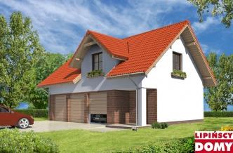Projekty Garaży Z Mieszkalnym Poddaszem Projektowanie Dobry Dom