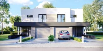 Dobry Dom Projekty Domów Dwurodzinnych Dla Dwóch Rodzin Z Osobnym